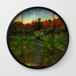 Alice in Wonderland World Quote Wall Clock
