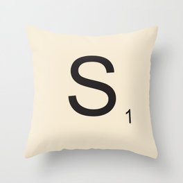 Scrabble S Throw Pillow