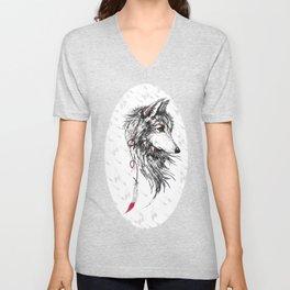 Feather Wolf Unisex V-Neck