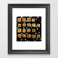 waste Framed Art Print