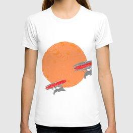 Around the Moon Orange Textured Version 2 T-shirt