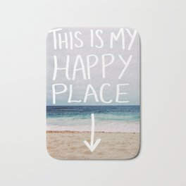 My Happy Place (Beach) Bath Mat