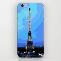 eiffel iPhone & iPod Skins featuring Eiffel by osile ignacio