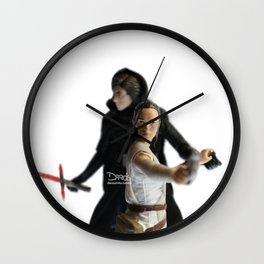 Darkness rises and light to meet it Wall Clock