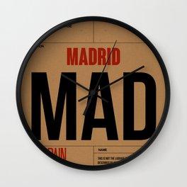 MAD Madrid Luggage Tag 2 Wall Clock