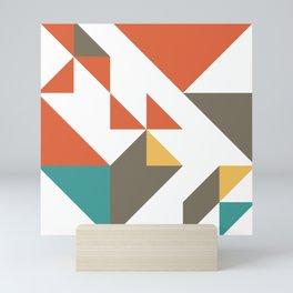 happy colors geometric Mini Art Print