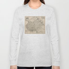 Vintage Map of New Orleans Louisiana (1885) Long Sleeve T-shirt