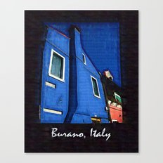 Scenic Burano Italy Canvas Print