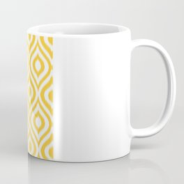 Yellow Ikat Ogee  Coffee Mug