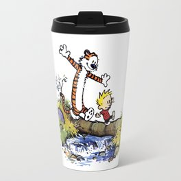 calvin and hobbes Travel Mug