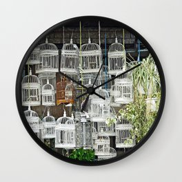 Bird Cages  Wall Clock