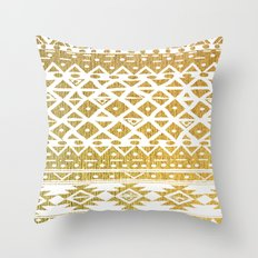 GOLDEN TRIBAL Throw Pillow