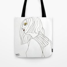 Yellow Eyeshadow Tote Bag