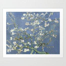 Almond Blossom - Vincent Van Gogh (blue pastel) Art Print