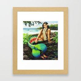 Island Mermaid Framed Art Print