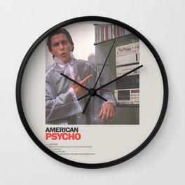 American Psycho Minimal Movie Poster No 03 Wall Clock