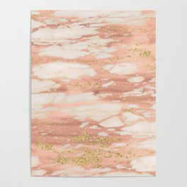 Sorano rose gold marble Poster