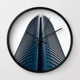 Skyscraper in Madrid Wall Clock