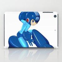 megaman iPad Cases featuring Megaman Cosplay: Buster Up! by tensaijanai