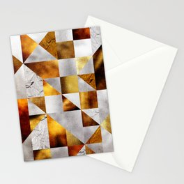 Mosaico Silver and Gold Stationery Cards
