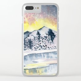 Winter Star Clear iPhone Case