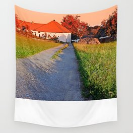 Early summer morning hiking trip   landscape photography Wall Tapestry