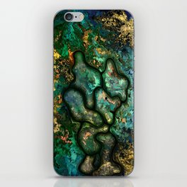 Copper worker by rafi talby iPhone Skin