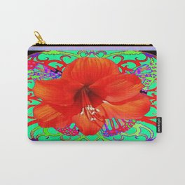 Italian  Style Design Red Amaryllis Abstract Carry-All Pouch
