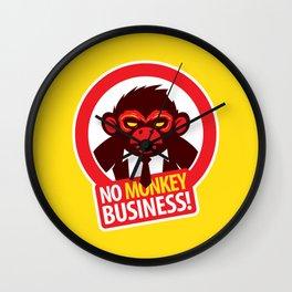 No MONKEY Business! Wall Clock