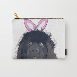 Happy Easter - Newfie Bunny Carry-All Pouch