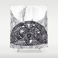 sea turtle Shower Curtains featuring Turtle by Alexander.Leake