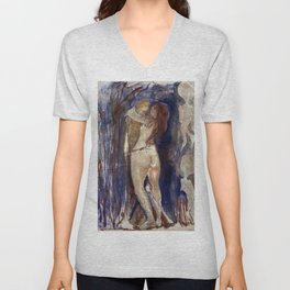 Death and Life by Edvard Munch Unisex V-Neck