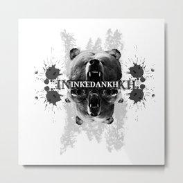 Inked Bear Metal Print