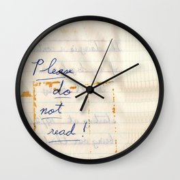 Privacy at its best Wall Clock