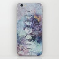 moon phase iPhone & iPod Skins featuring Just A Phase. by BLACK SAGE DESIGNS