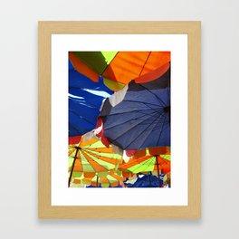 Parasols on a Thailand beach Framed Art Print
