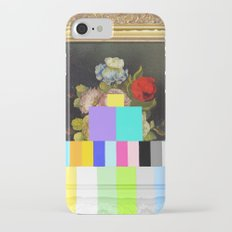A Painting of Flowers With Color Bars iPhone 7 Slim Case