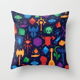 DnD Forever - Color Throw Pillow