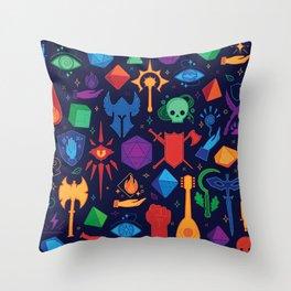 TTRPG Forever - Color Throw Pillow