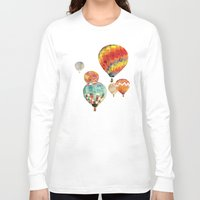 balloons Long Sleeve T-shirts featuring Balloons by takmaj