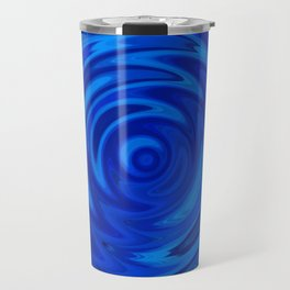 Water Moon Cobalt Swirl Travel Mug
