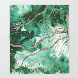 Liquid Marble Glitter Glam #1 (Faux Glitter) #decor #art #society6 Throw Blanket