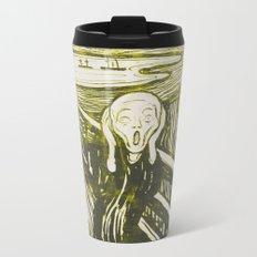 The Scream's Haze (yellow) Metal Travel Mug