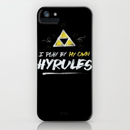 Legend of Zelda Inspired Type I Play by My Own Hyrules iPhone Case
