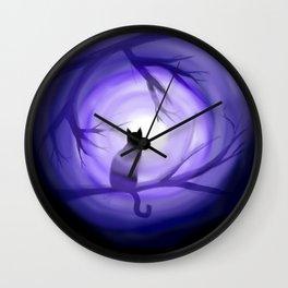 Thru Violet Mist Wall Clock