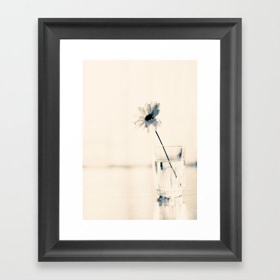 Easy Love (minimalist flower photography) Framed Art Print