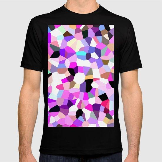 Modern Abstract Geometric Pattern Pink Teal Pastel  T-shirt