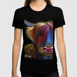 Scottish Highland Cow ' PoDGER ' by Shirley MacArthur T-shirt