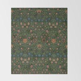 Violet and Columbine - William Morris Throw Blanket