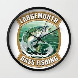Largemouth Bass Fishing Wall Clock
